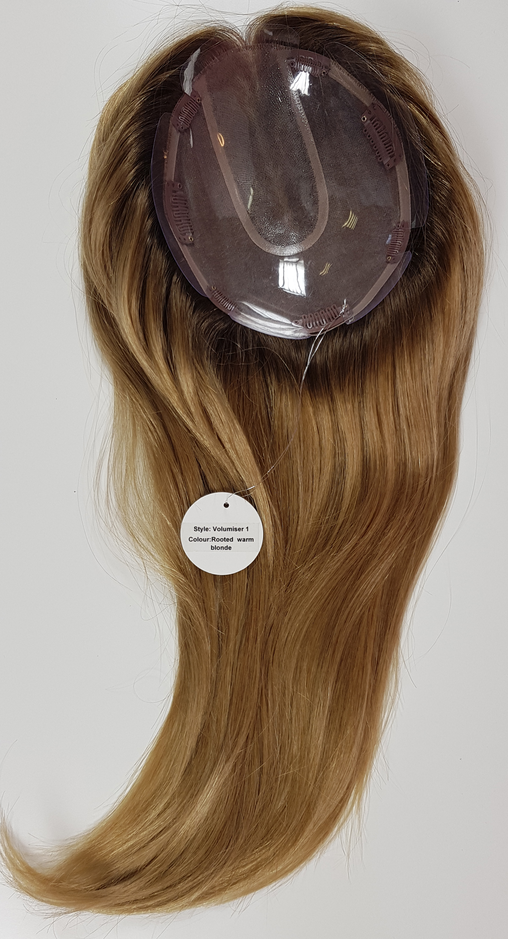 Hair Toppers Style Juliet Colour Rooted Warm Blonde